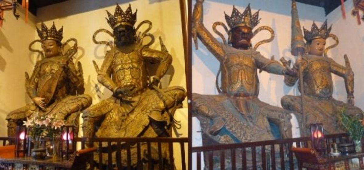 Four Heavenly Kings - Jade Buddha Temple in Shanghai