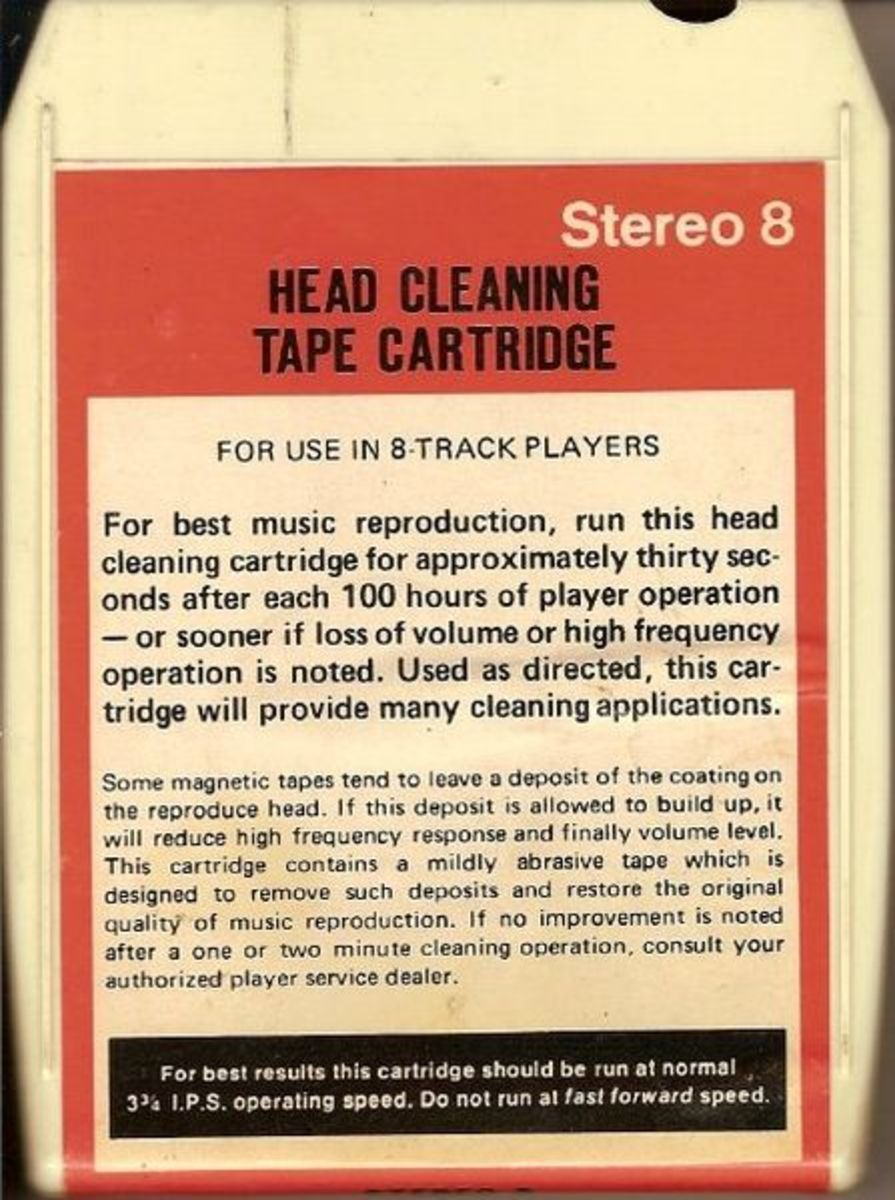 Remember these? For cleaning out the eight-track machines. Technology at its best!