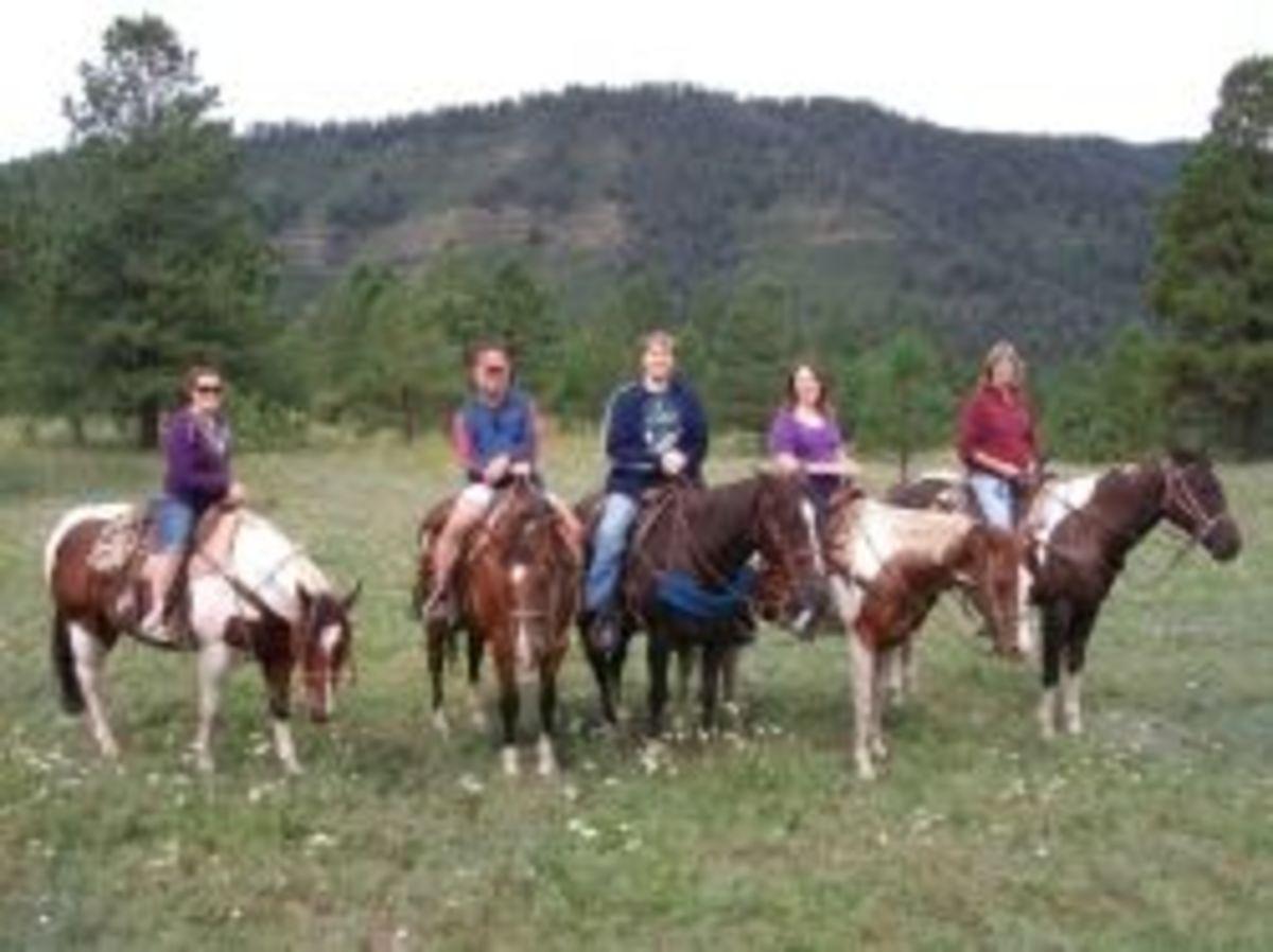 Riding Horses in Tererro, New Mexico -