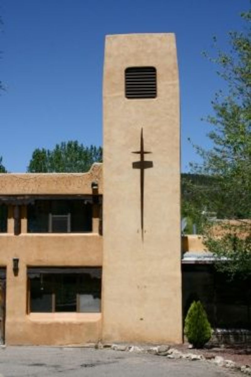 Our Lady of Guadalupe Abbey in Pecos, New Mexico