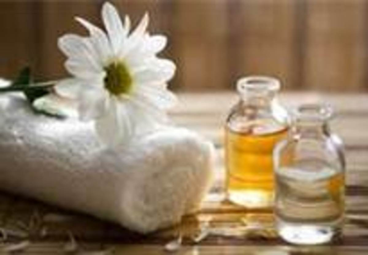 Beautiful perfumes and massage oils