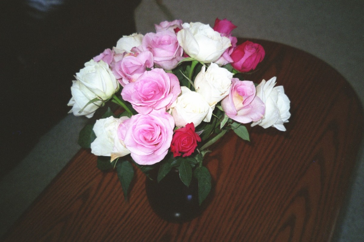 Saying I love you through the sense of smell, like with a gift of with fresh flowers.