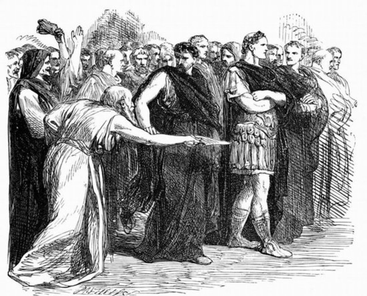 'Beware of the Ides of March' Soothsayer to Julius Caesar who would soon become a Kebab to the Roman Senate.