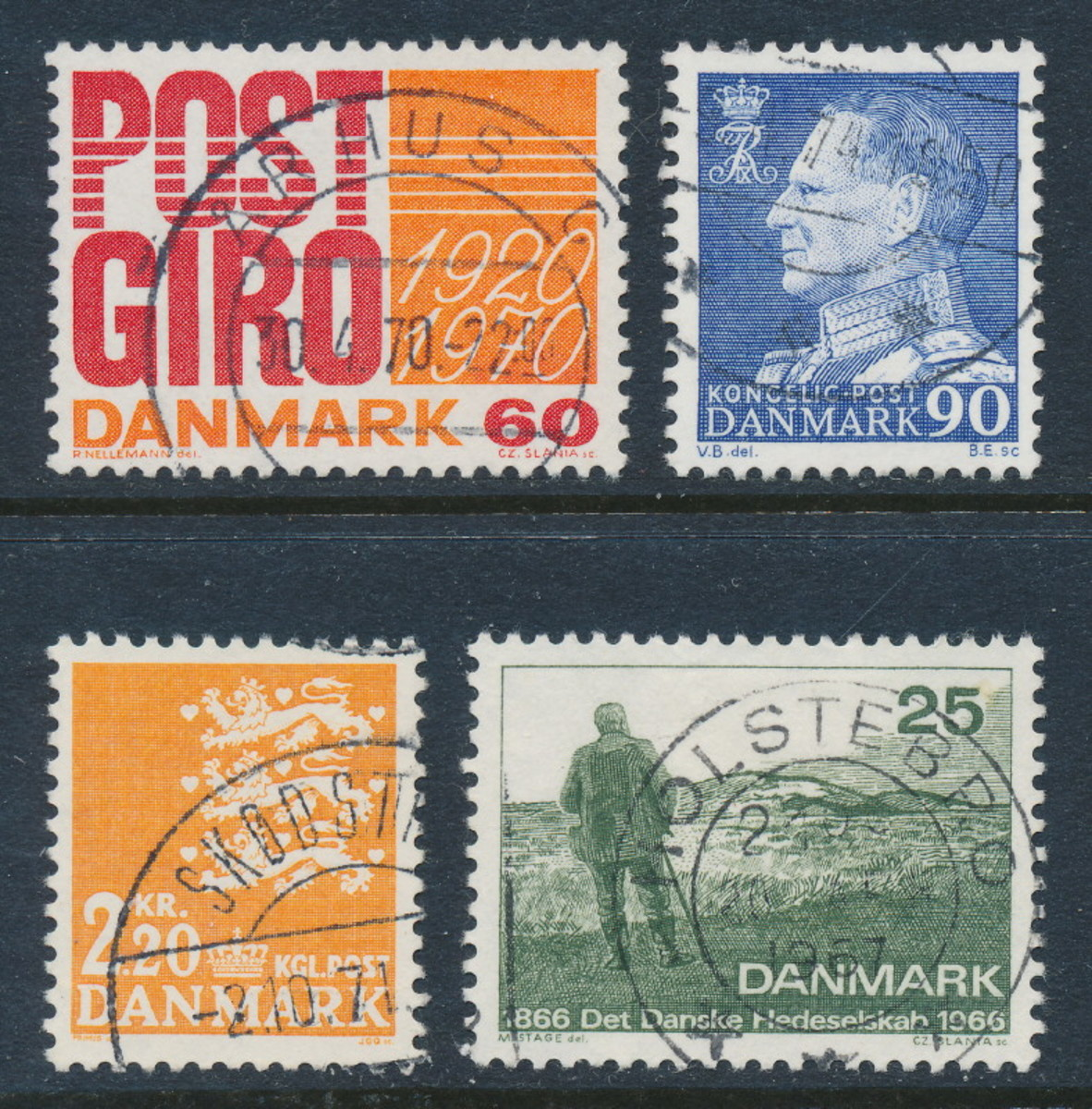 Danish stamps from my childhood
