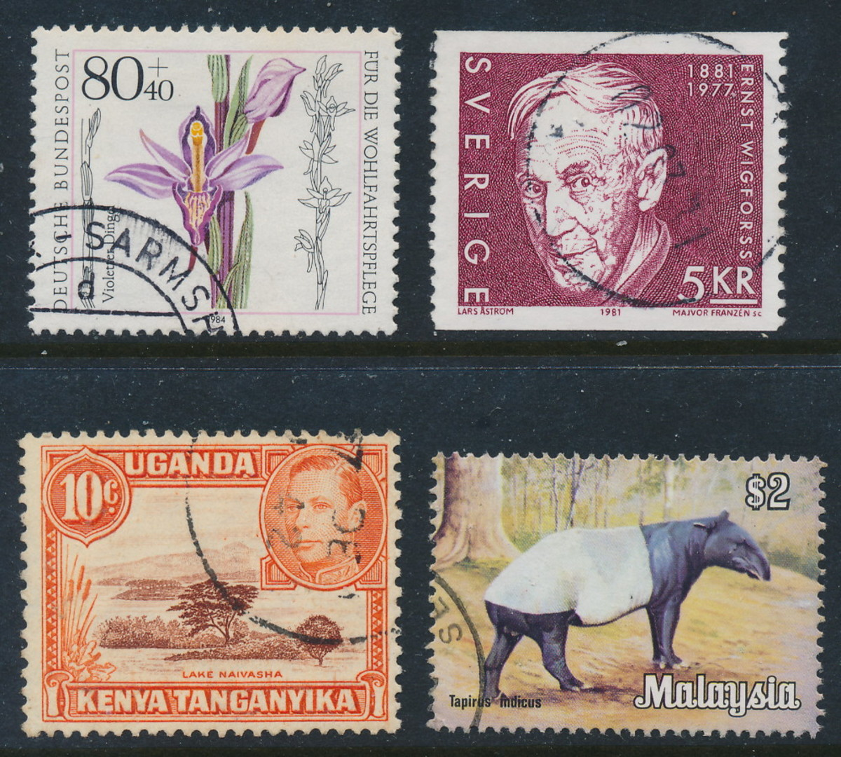 Stamps from different corners of the world