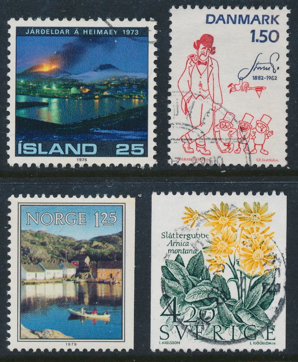 Stamps from the Nordic countries