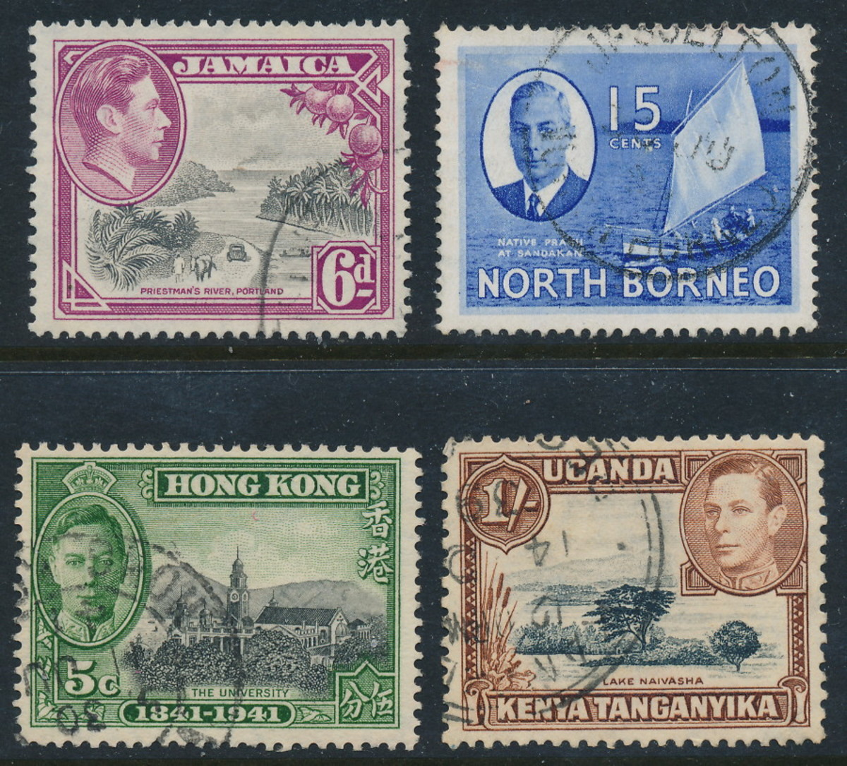 British Commonwealth stamps from the reign of George VI
