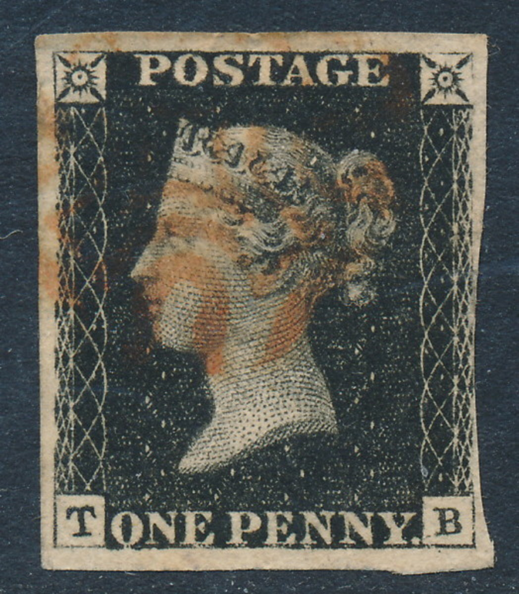 Great Britain Penny Black-- the World's First Stamp.