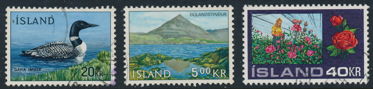 Iceland is known for beautiful stamps, and is a very popular collecting area