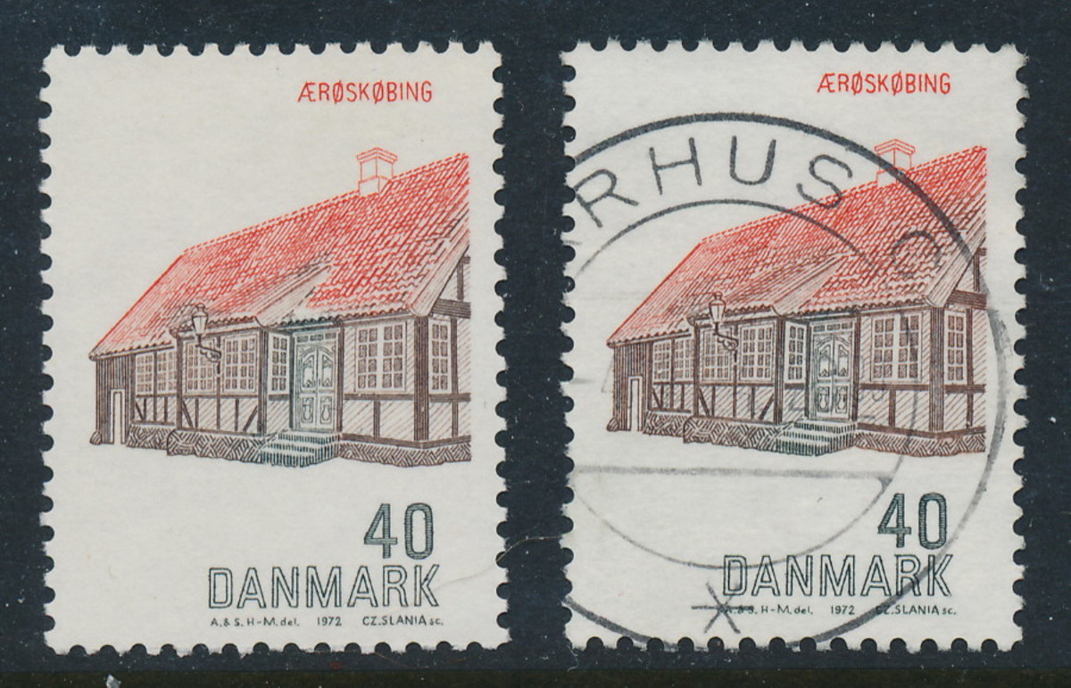 A mint and a used stamp from Denmark