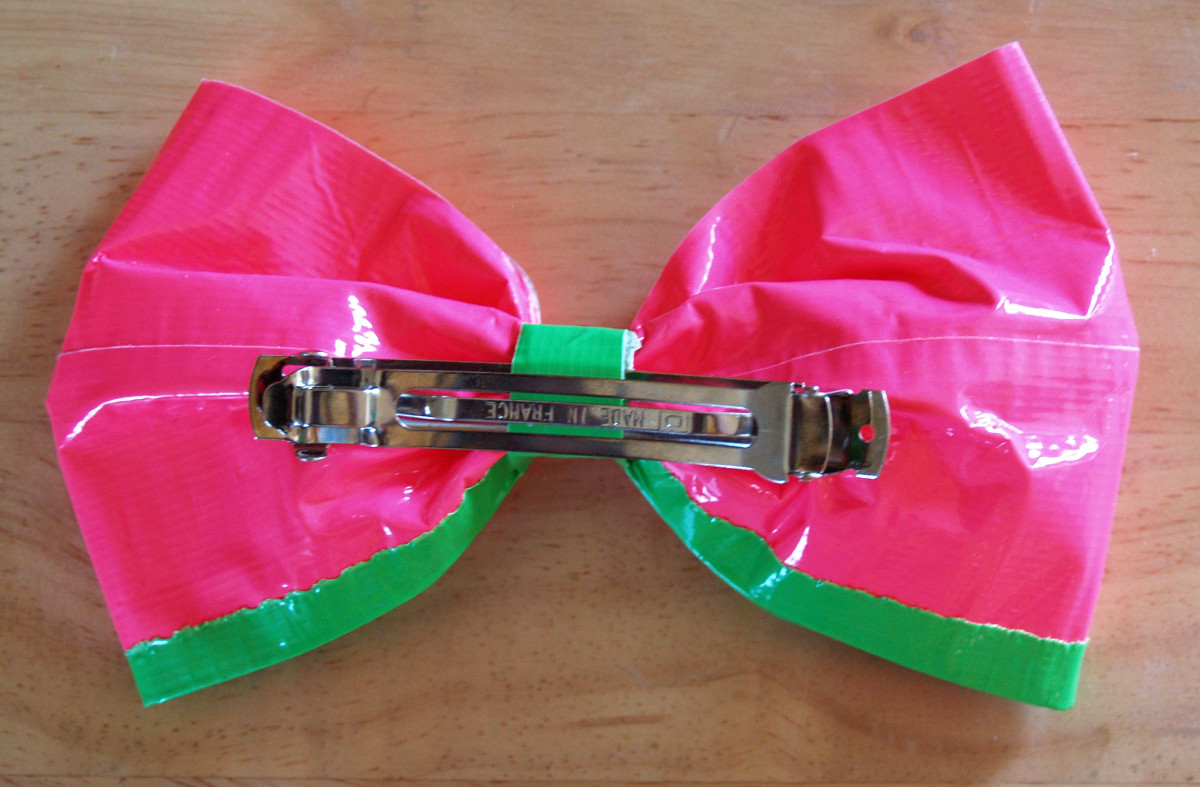 Back of Large Hair Bow