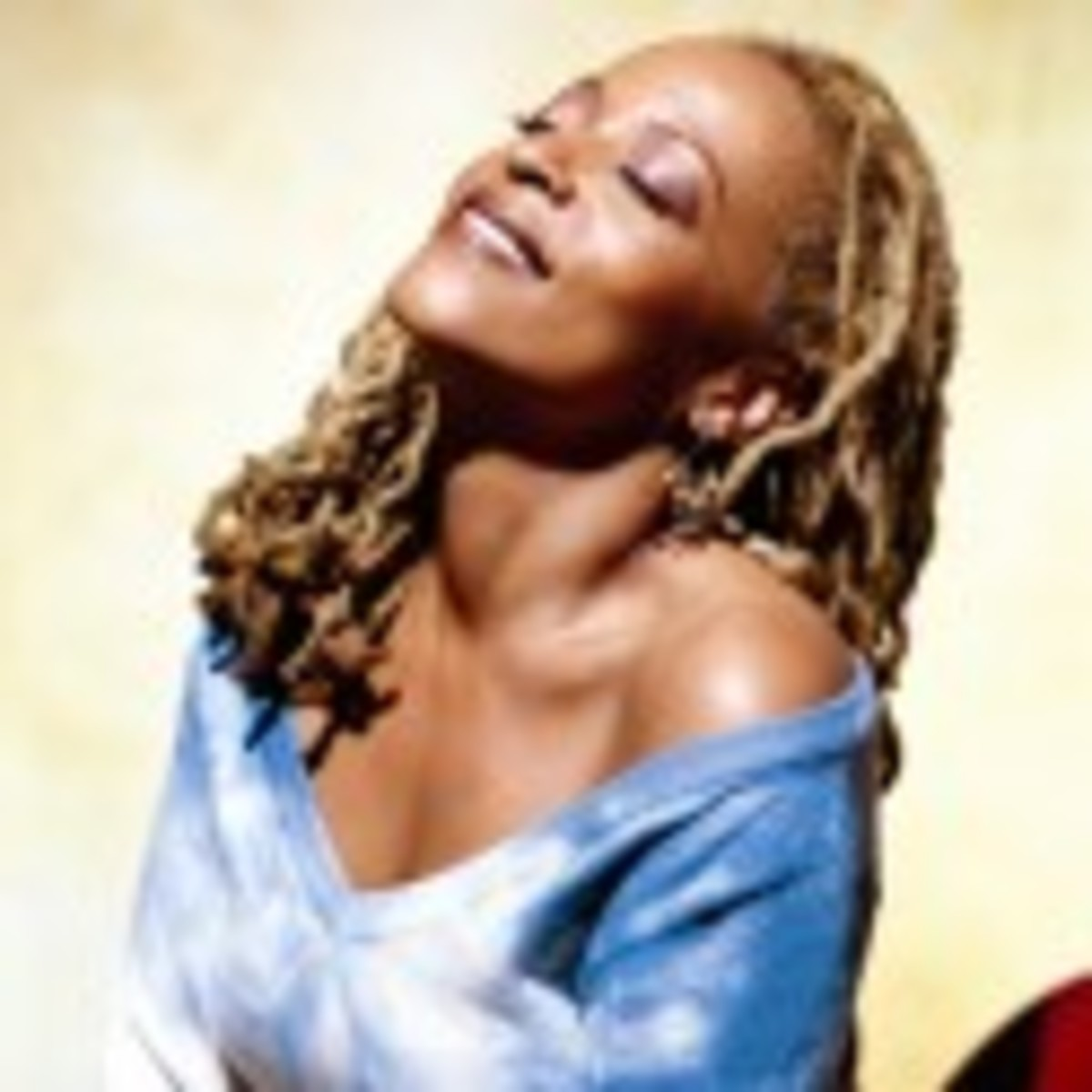 Cassandra Wilson with long blonde hair