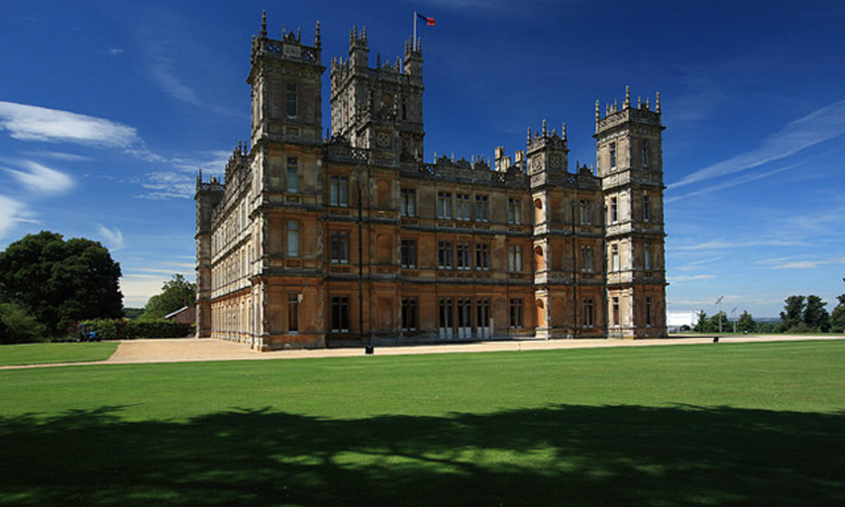 The East Front of Highclere Castle