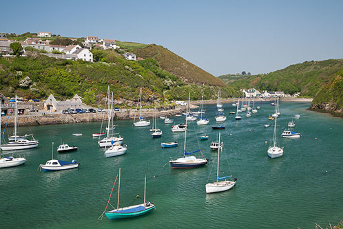 Solva, another Norse name, near Haverfordwest - Haverford means 'sea ford' ('Hav' being the Norse for sea)
