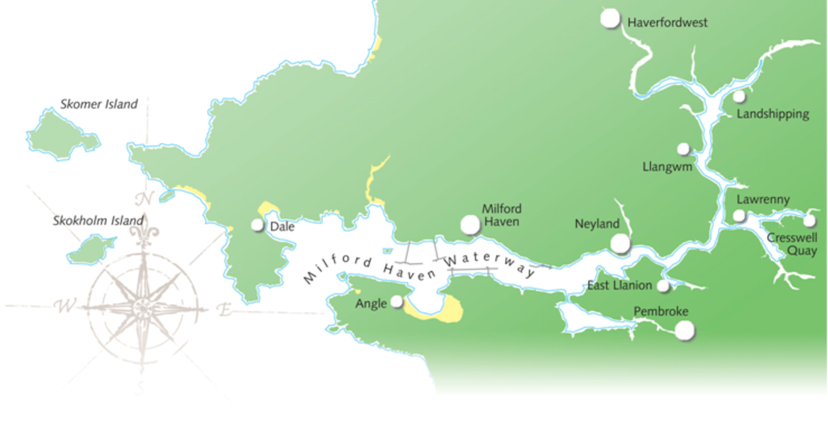 Further west, geographic naming is good evidence of earlier Viking settlement around Milford Haven and West Wales