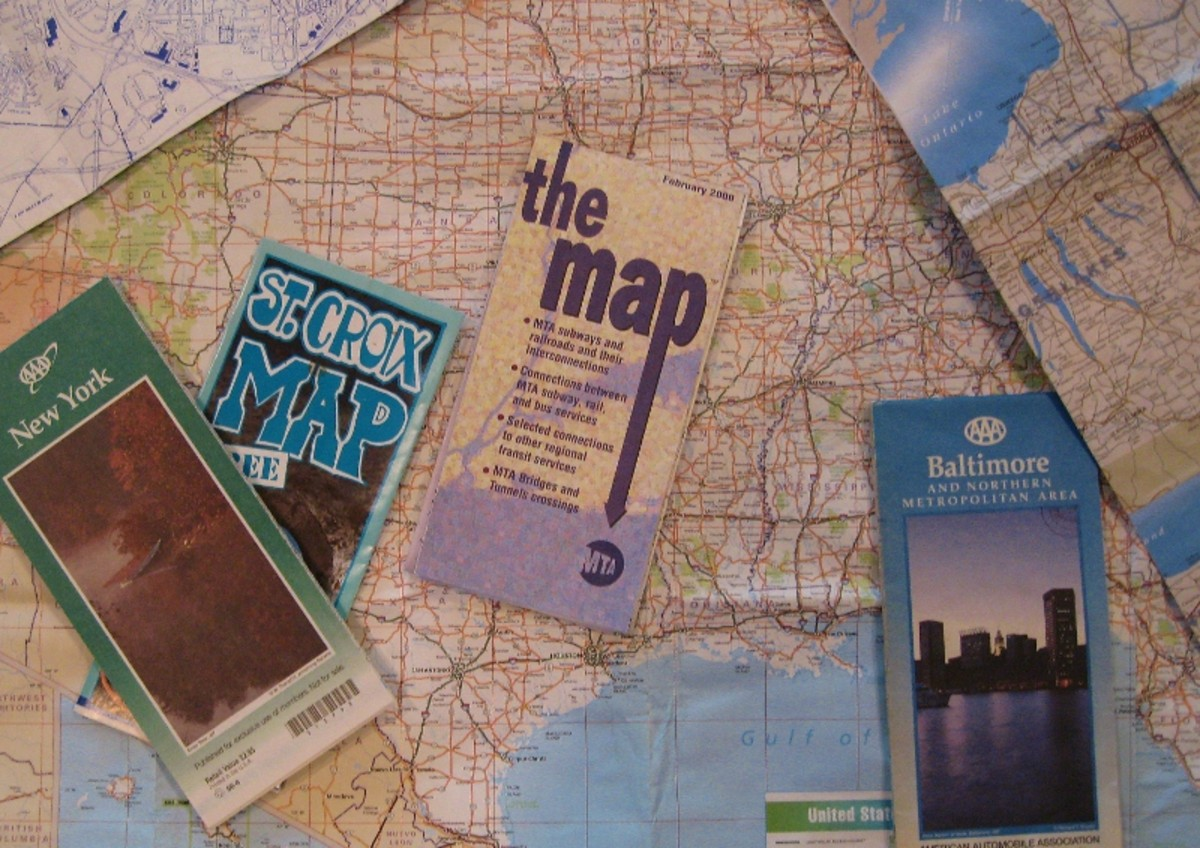 The use of paper maps kept my brain active, even re-folding them each time was a brain teaser.