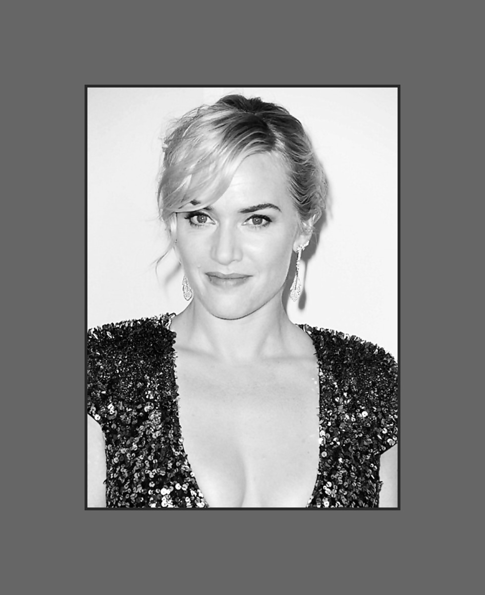 Kate Winslet's wears her long wavy bangs side swept and a bit more choppy.  Very flattering for oval faces - 2013 Hairstyles with Bangs for Round, Oval, Square, Heart, Oblong Face