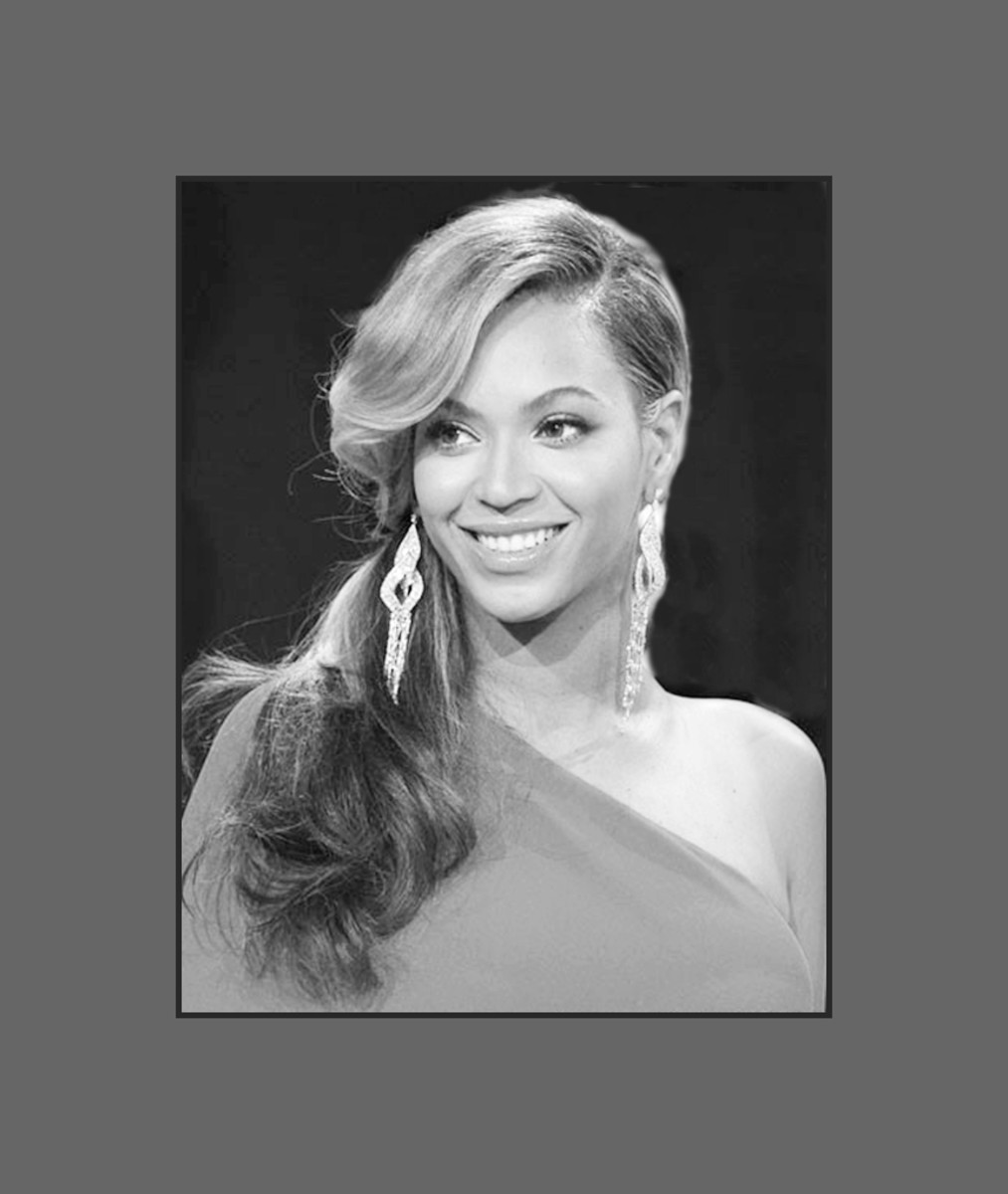 Beyonce has a perfect shaped face.  She's beautiful with or without bangs.  Her hair is side-swept to form the sultry long bangs look draping her oval face - 2013 Hairstyles with Bangs for Round, Oval, Square, Heart, Oblong Face