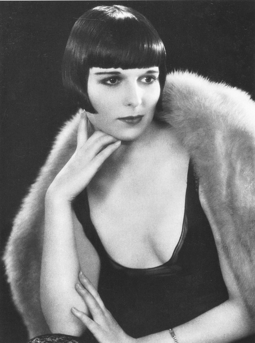 Louise Brooks - Hairstyles with Bangs for Round, Oval, Square, Heart, Oblong Face by Rosie2010