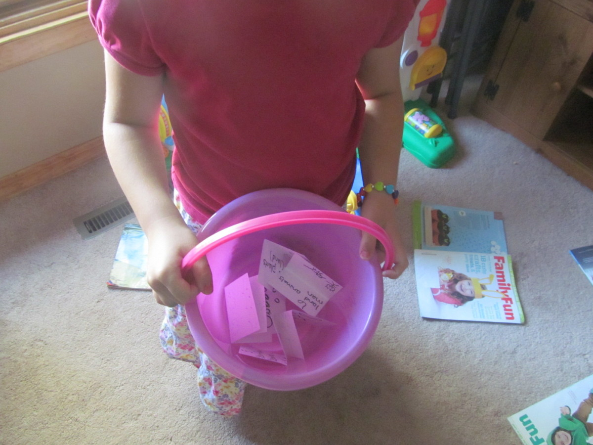 Our bucket full of cards.