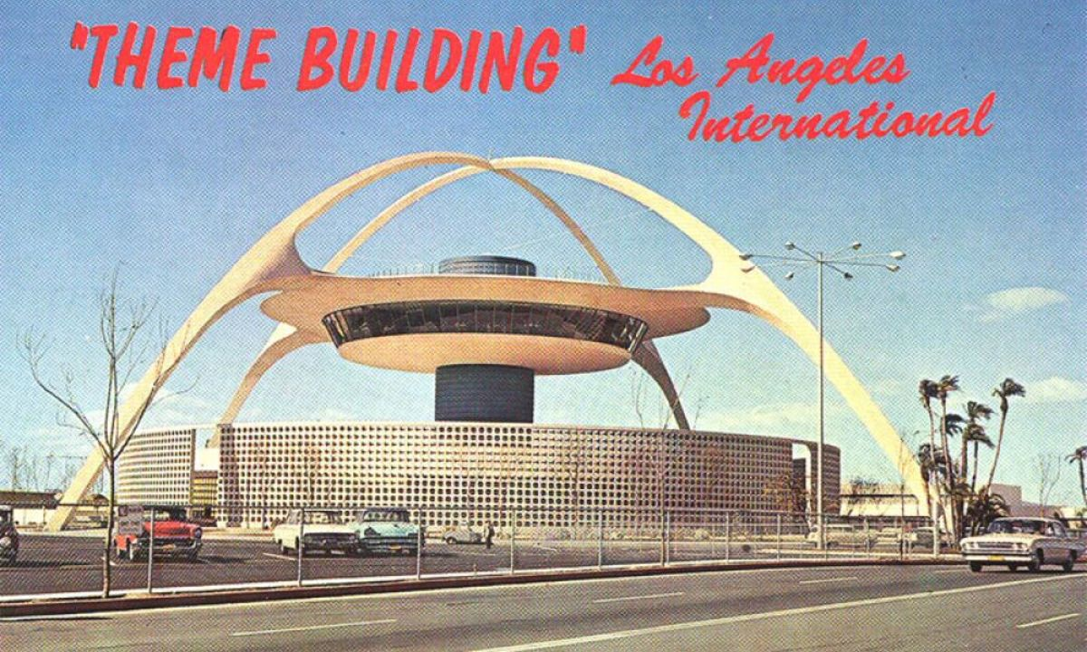"""This is Los Angeles International Airport (Jetport), it was built in the late 1950s and was at the time one of the biggest airports in America. They first envisioned it to be even bigger in the anticipation of the """"jet age"""" with lots of terminals and"""