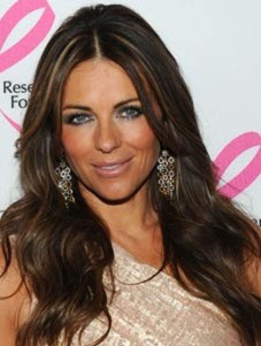Model Elizabeth Hurley's Makeup