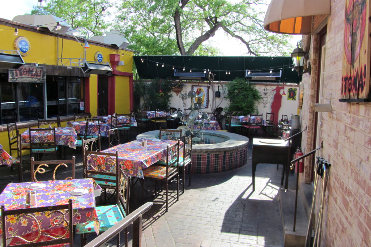 The patio at the original El Charro in the Presidio District