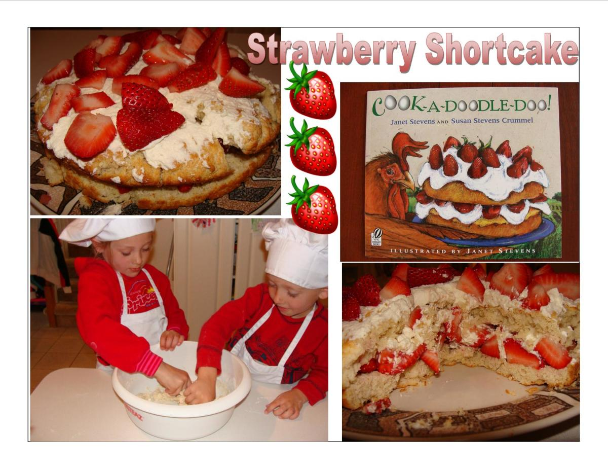 Our strawberry shortcake cooking fun!