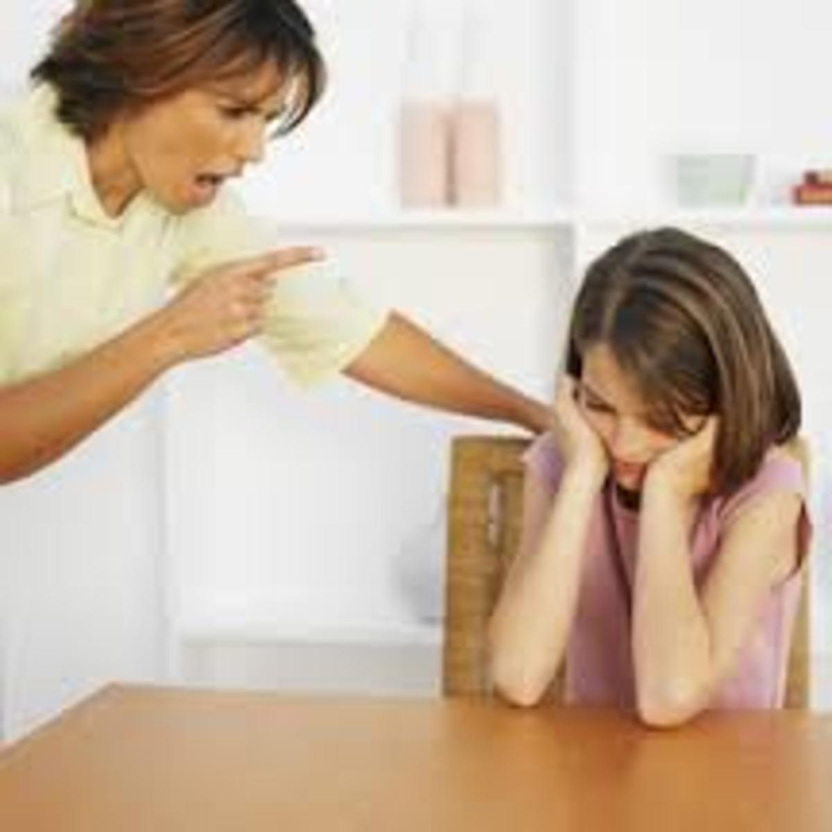 Immature parents see parenting as a form of power play & other forms of upmanship between them& their children. They feel that parenting is THEIR liberty to exercise THEIR MIGHT & RIGHT to do as they will to their children.