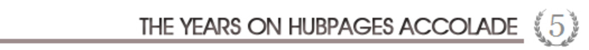 The Years on Hubpages Accolade