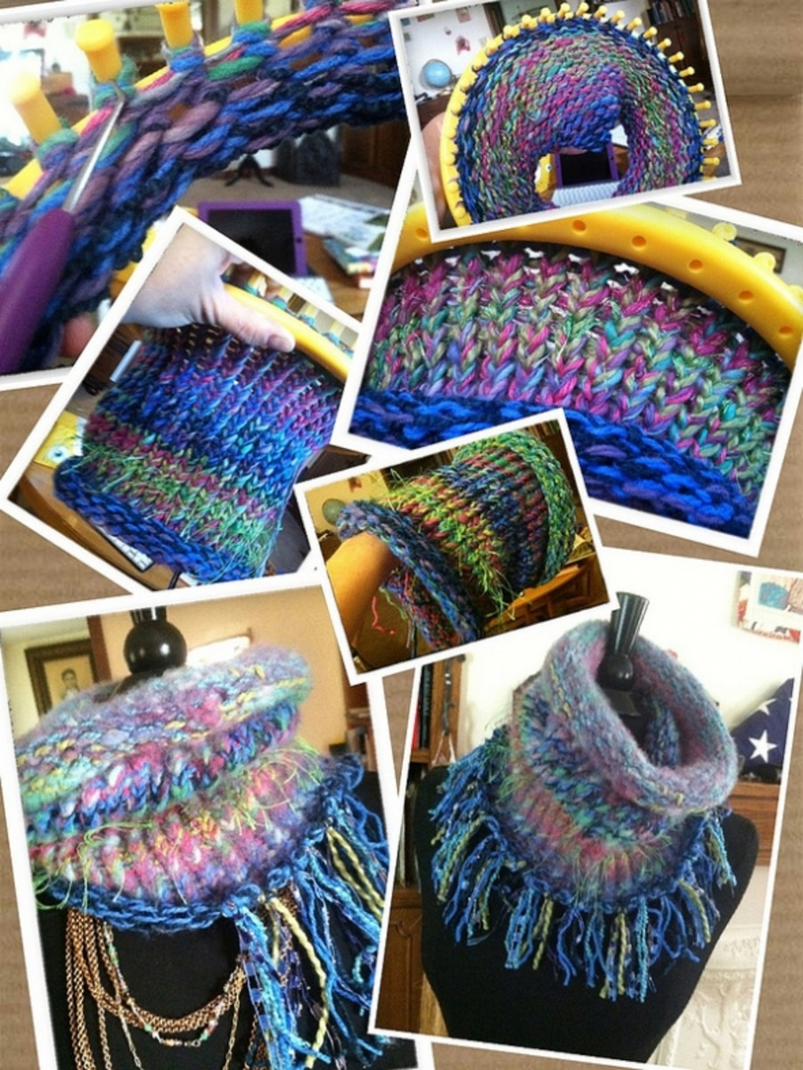 Loom Knitted Cowl Neck Scarf by Knitsteel