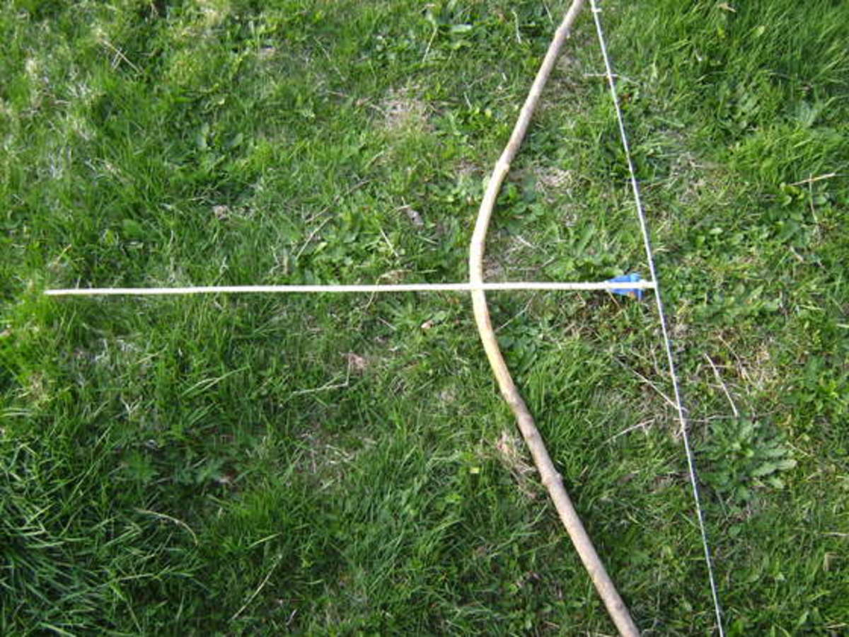 A bow and arrow ade from twigs and string