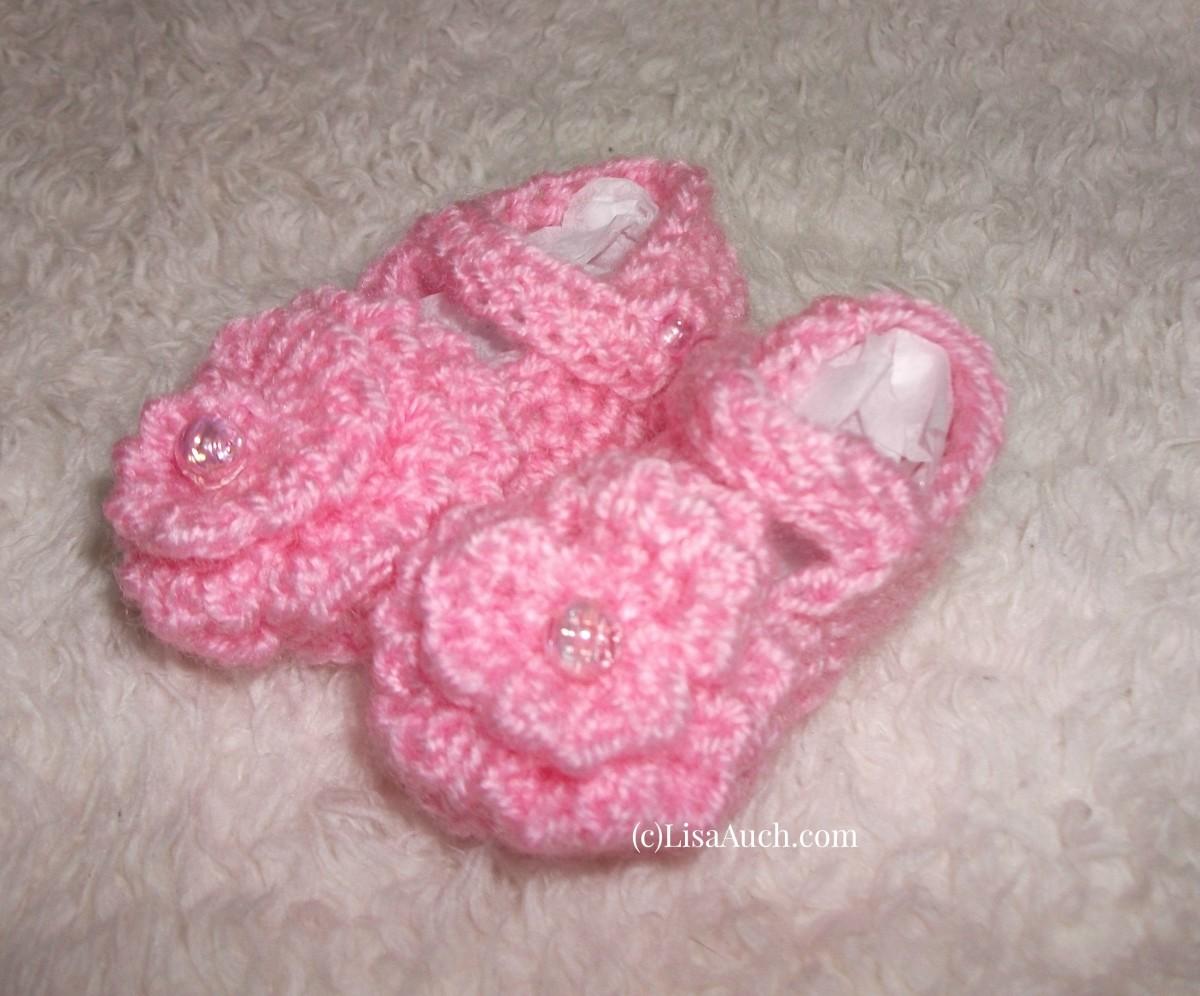 crochet baby bootie shoe pattern