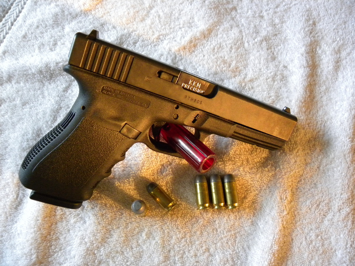 My 3rd Generation Glock 21, with .45 Super modifications.