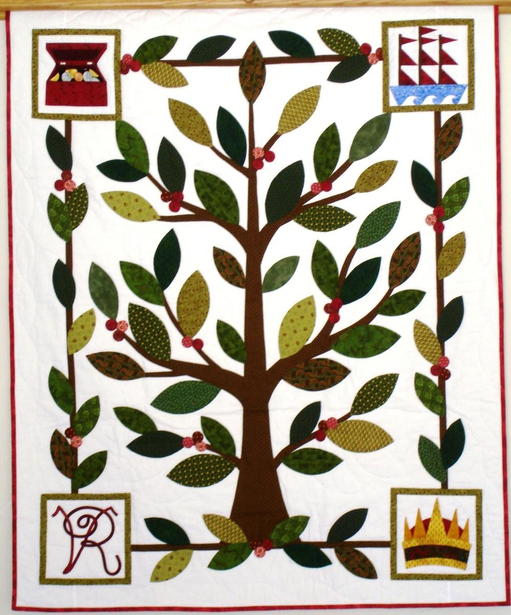 Replica of Martha's quilt.