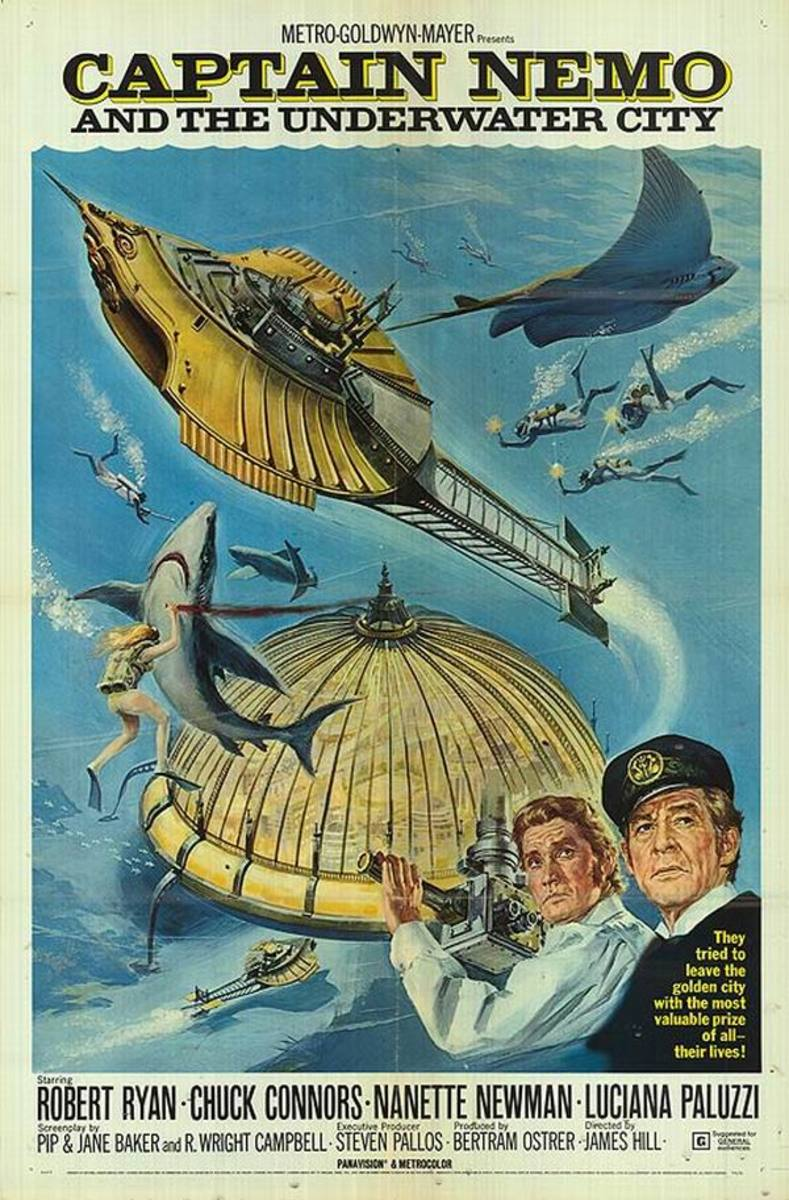 Captain Nemo and the Underwater City (1969) poster
