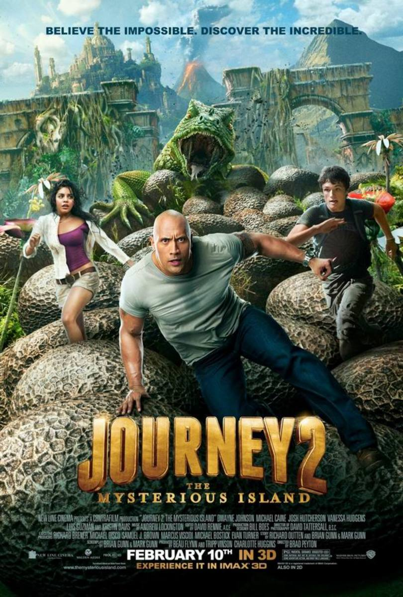 Journey 2 The Mysterious Island (2012) poster