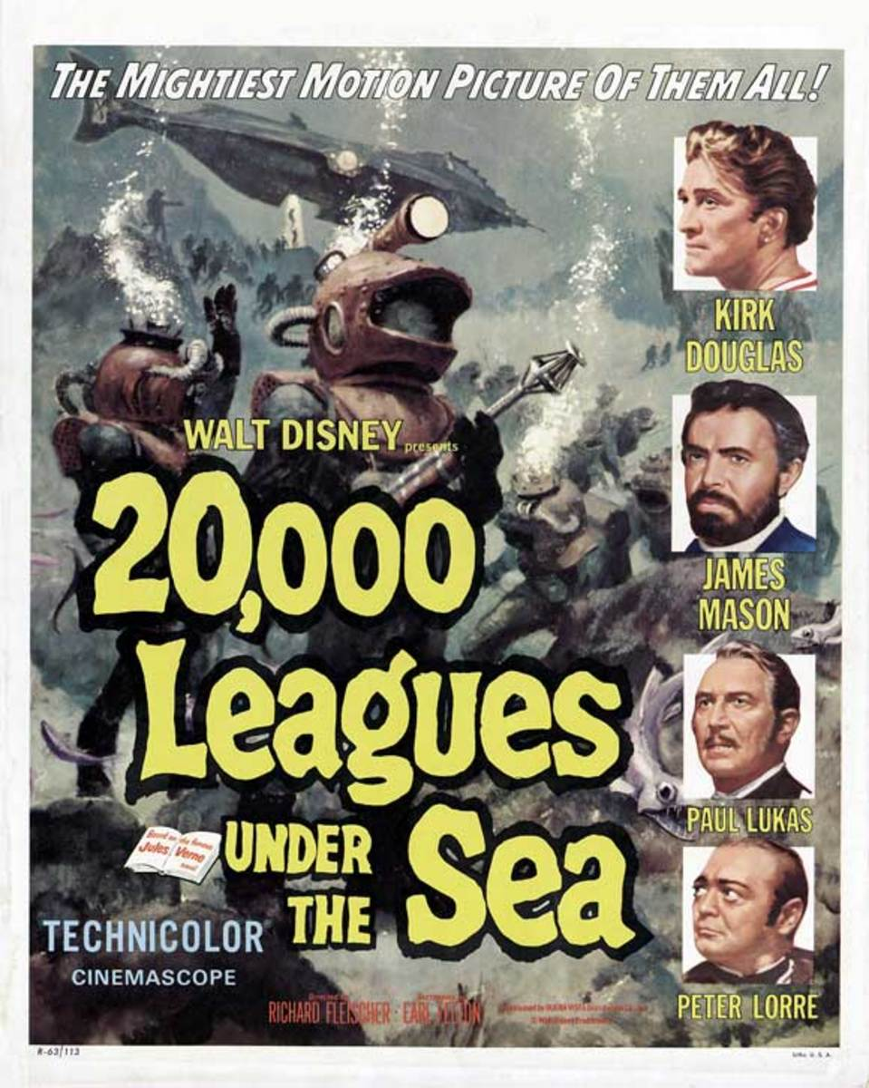 20,000 Leagues Under the Sea (1954) poster