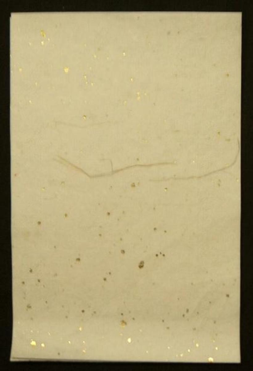 White Rice Paper with Gold Flecks.