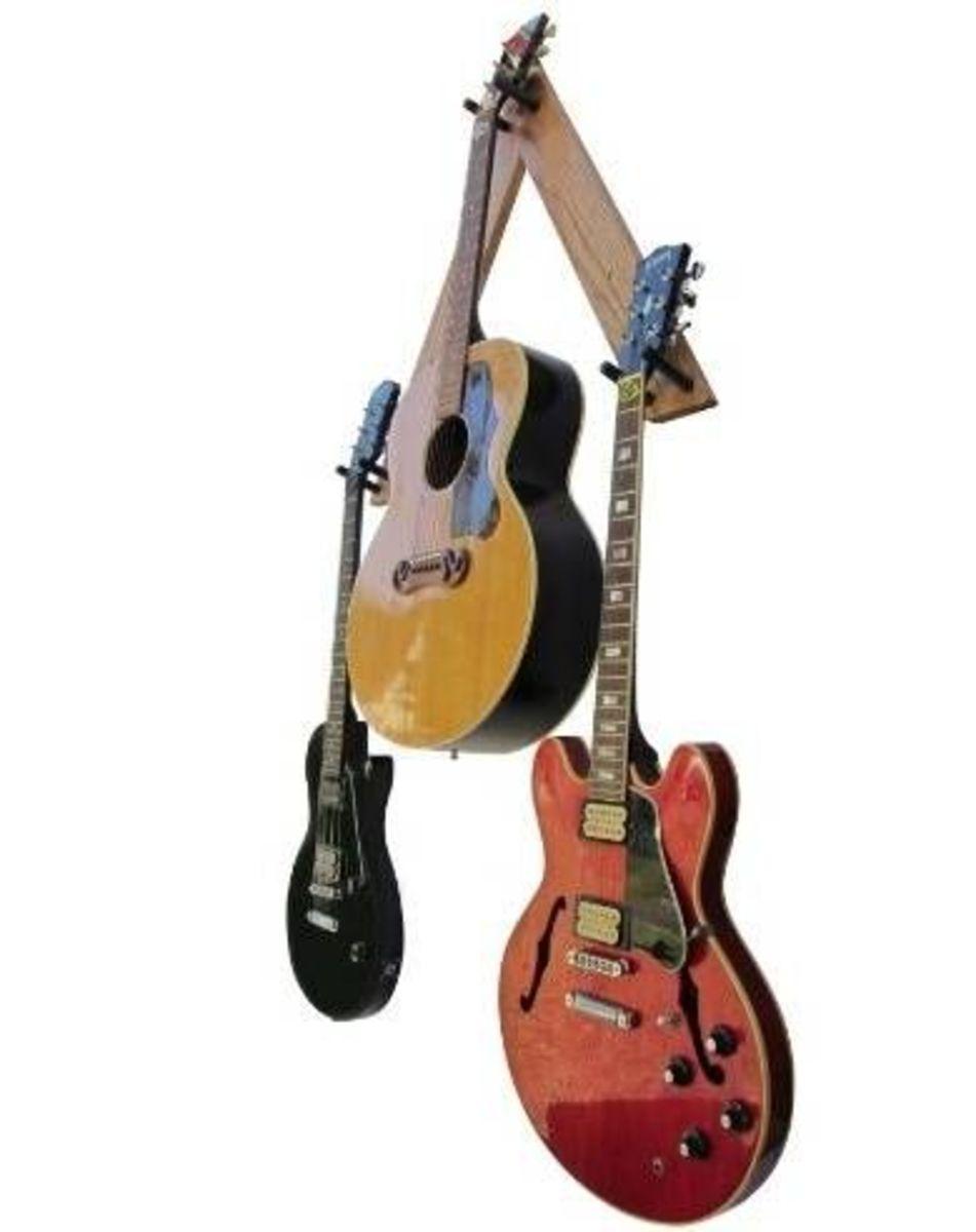 Standard Guitar Tree Mount Three Guitar Rack