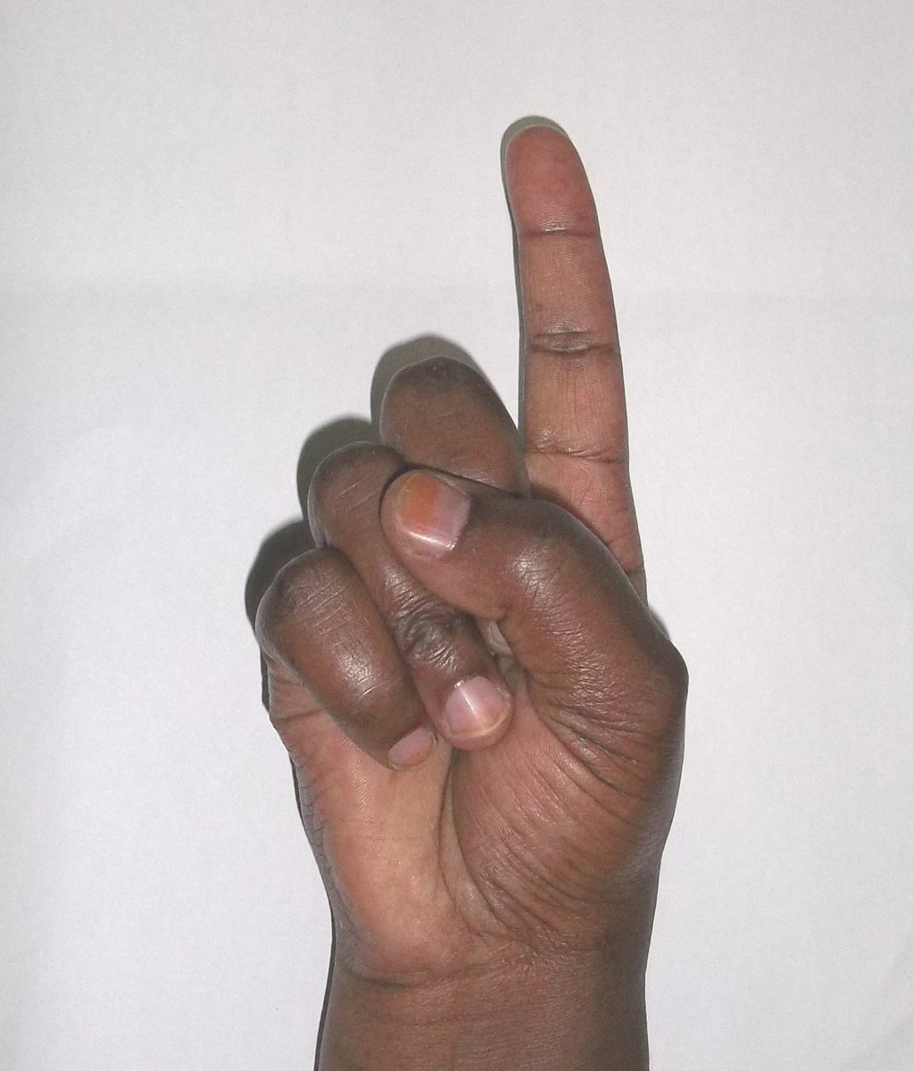 Kikuyu Sign language for 1