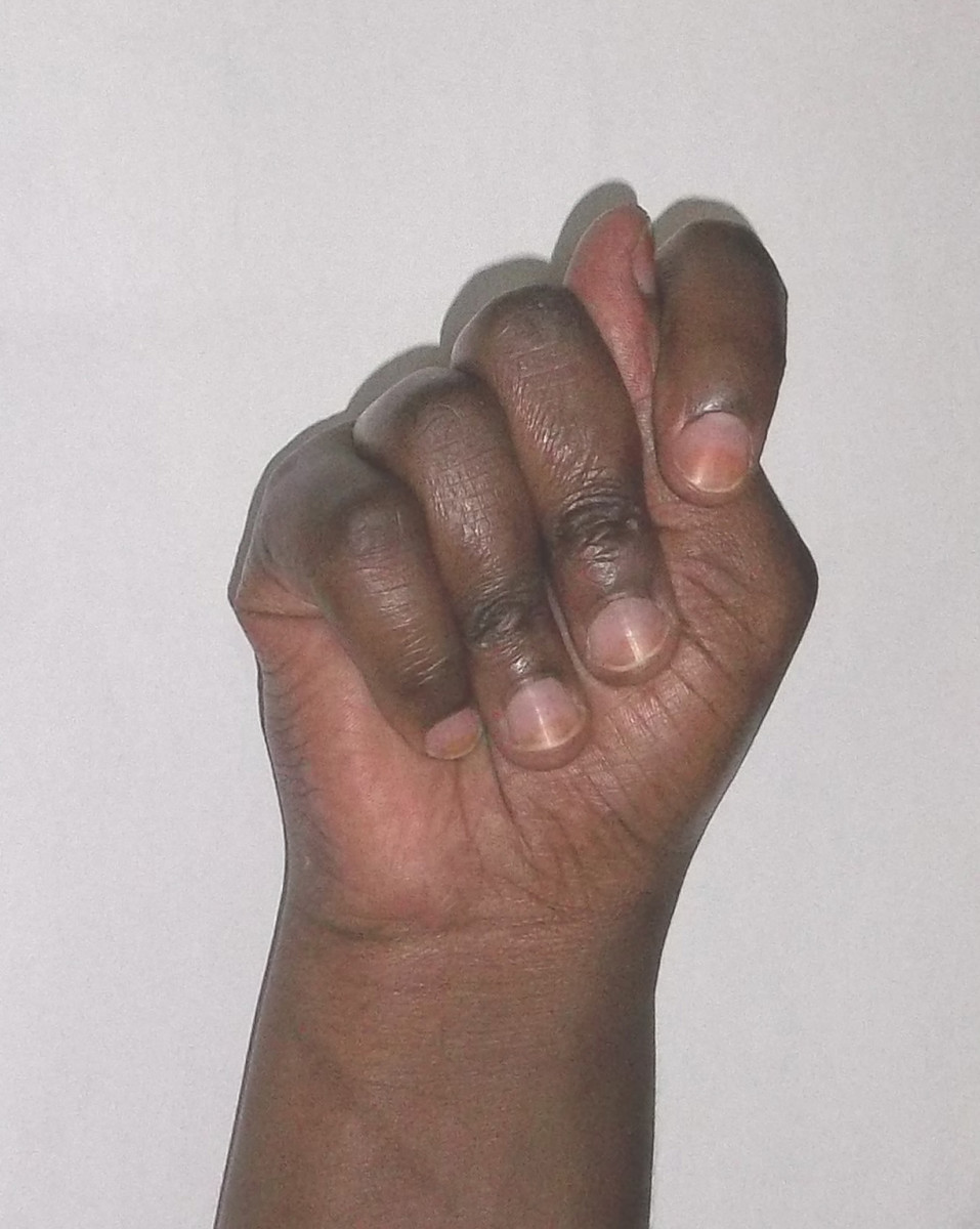 Kikuyu sign language for 5