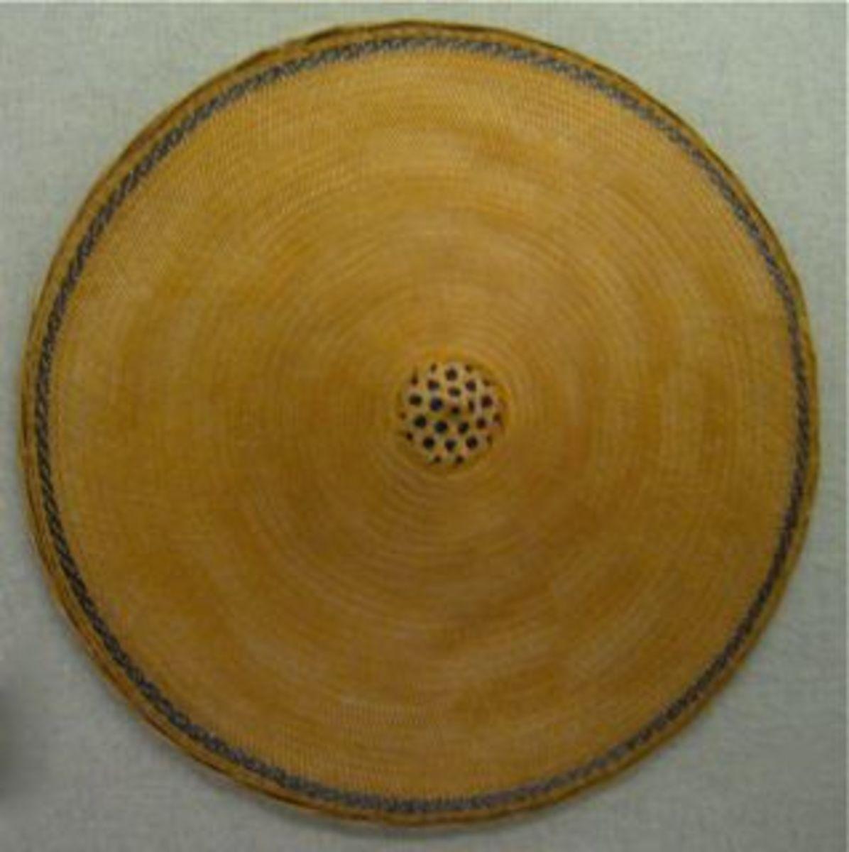 Bamboo hat.