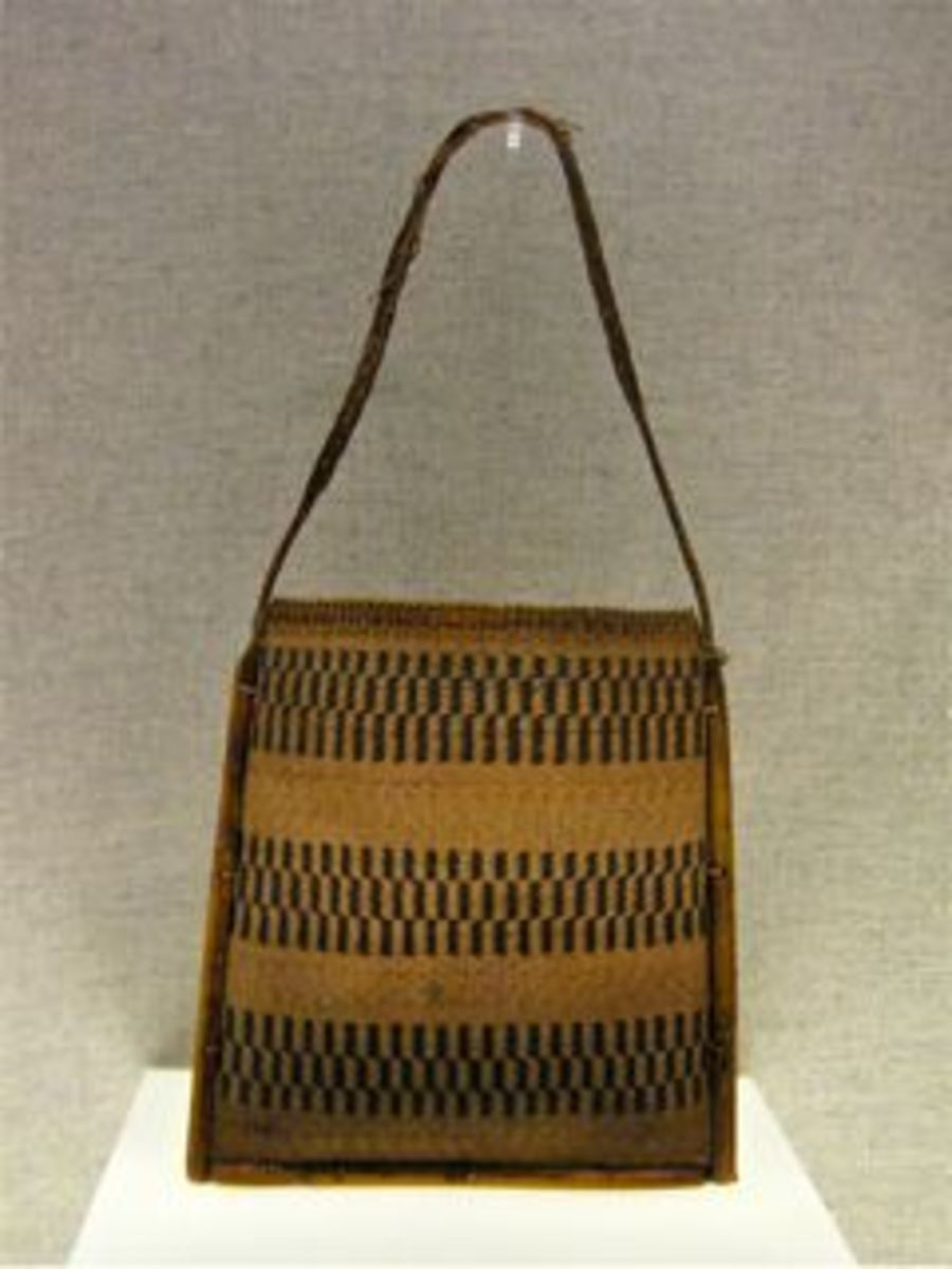 Rattan shoulder bag from Drung ethnic minority group (Gongshan, Yunnan).  2nd half 20th Century.