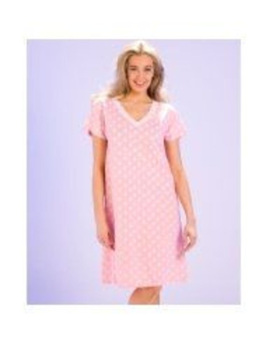pink polka dot nightgown