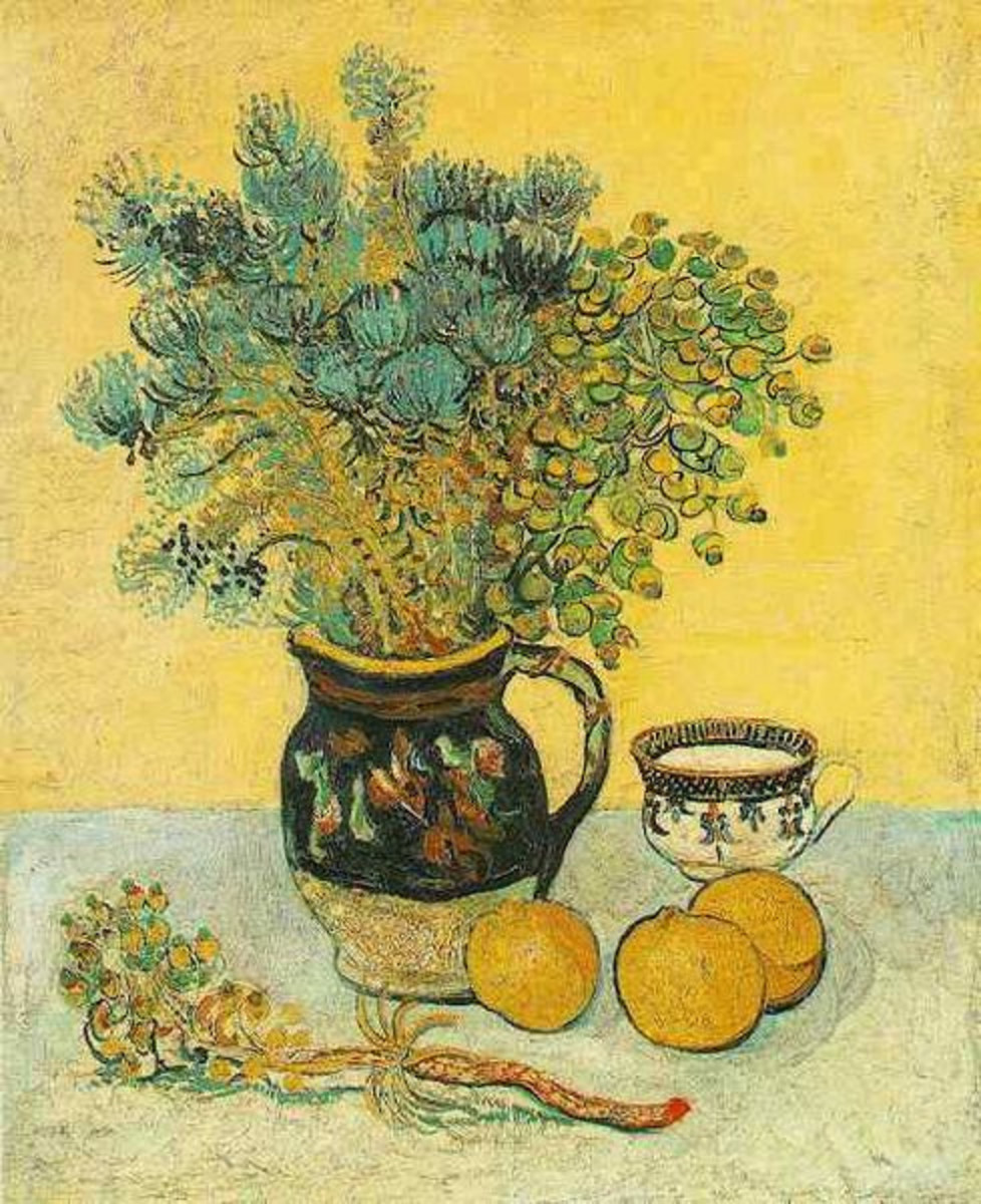 """Still Life: Majolica with Wildflowers"" by Vincent Van Gogh, 1888"