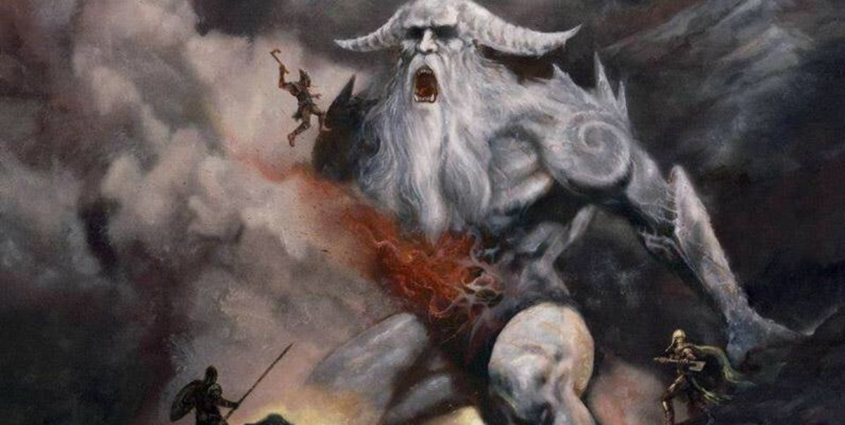 Ymir, sire of the Frost Giants, immortal enemies of the Aesir