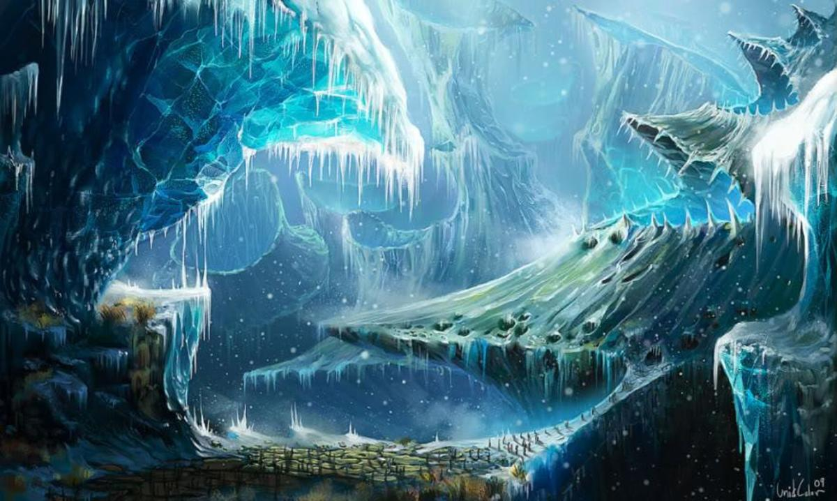 Niflheim - world of ice and mists, realm of the dead where Loki's daughter Hel presides