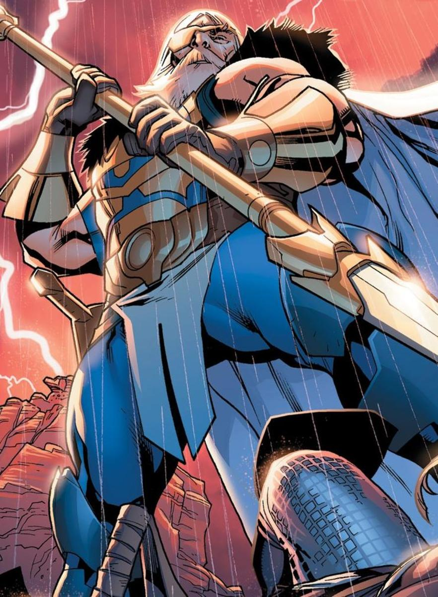 And once again, this time the adult comic version. Odin son of Bor, one of three brothers with Vili and Ve