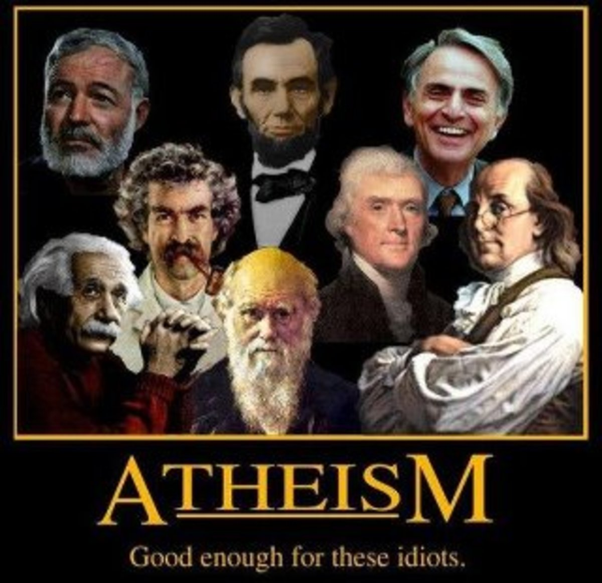 Some of these guys are actually reported atheists, agnostics or fit into the 'other' category.